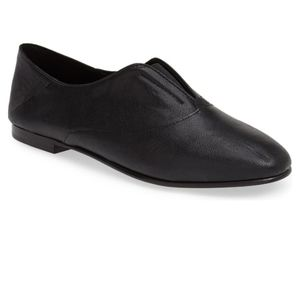 Eileen Fisher Polo Leather Flats Loafer Black